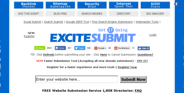 Add Url Excite Submit  ExciteSubmit com - FREE Website