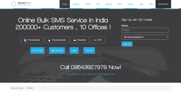 Bhash  Bulk SMS Service Provider India: Send Bulk SMS Online |Bhash
