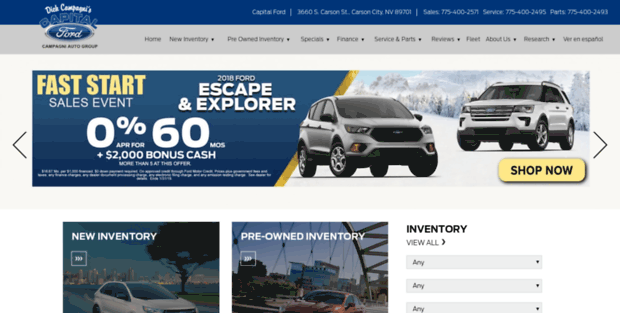 Capital Ford Carson City >> Capital Ford Online Ford Dealer Carson City Nv New Used
