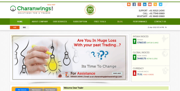 Charanwings  Indian Intraday Stock/Share Market Day Trading Tips