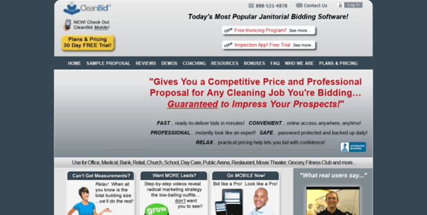 Clean Bid. Janitorial Bidding Software | Cleaning Proposal ...