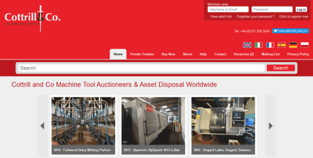 Co Ttand  Cottrill and Co Machine Tool Auctioneers & Asset