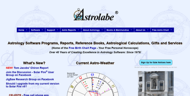Crystal Alabe Astrolabe Astrology Software Reports Books And