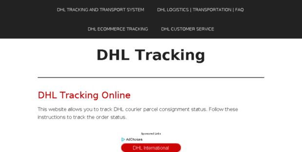 Dhl-tracking org  DHL Tracking | Courier Tracking | Parcel