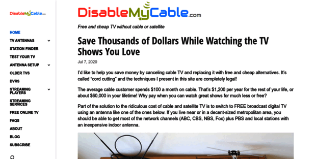 Disable My Cable  DisableMyCable | Free and cheap TV without