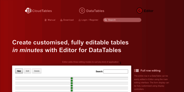 Editor Data Tables  Editor | Editing for DataTables