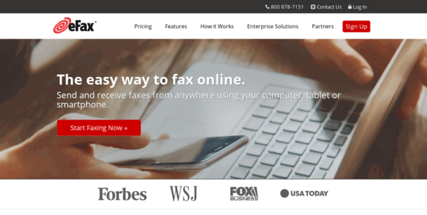 En EFax. eFax - Internet Fax to Email Services