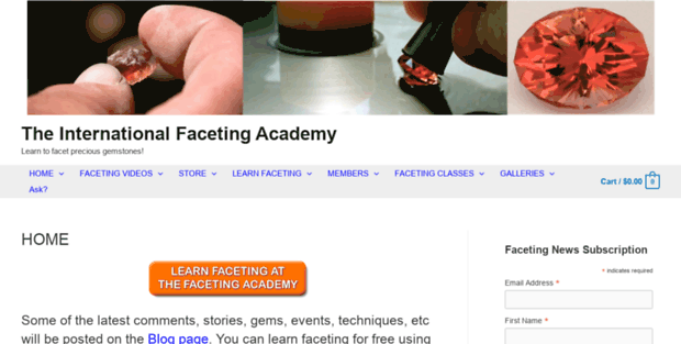 Faceting Academy  The Faceting Academy - where you can learn