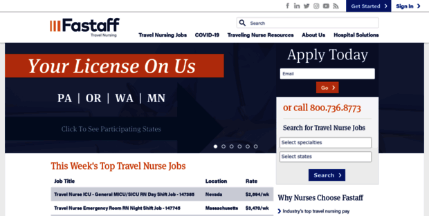 Fastaff. High Pay Travel Nursing Jobs | Fastaff Travel Nurse ...