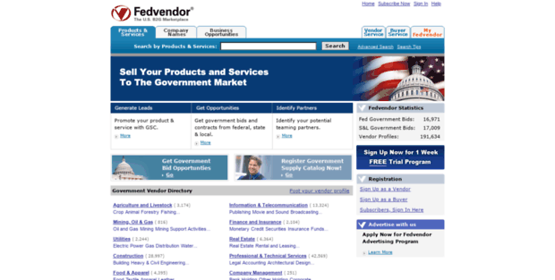 Fedvendor  Government Contractor, Bid and Contract Opportunity