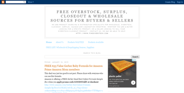 Find Overstock  Free Overstock, Surplus, Closeout