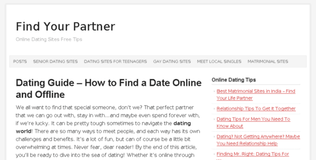 Tips online dating sites