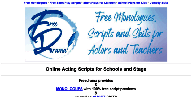Freedrama net  Freedrama free stage play scripts