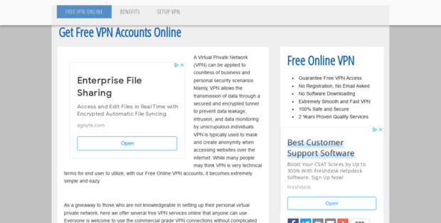 Vpn online accounts for free