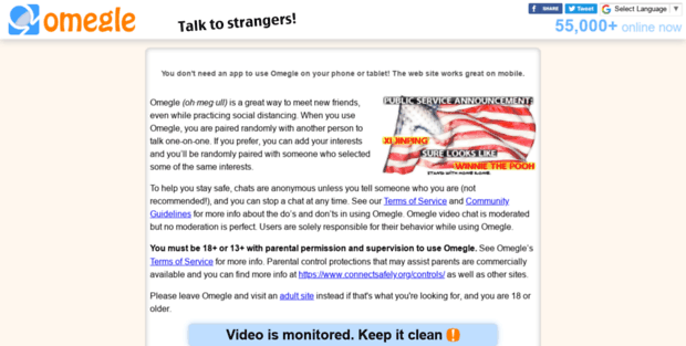Front 3 Omegle  Omegle: Talk to strangers!