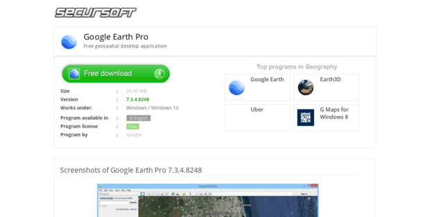 Google Earth Pro Secursoft Google Earth Free Download