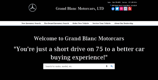 Grand blanc motorcars ltd new for Grand blanc mercedes benz