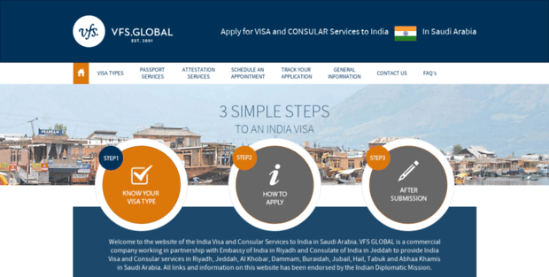 In Vfsglobal  India Visa Information In Saudi Arabia - Home Page