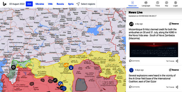 ISIS Liveuamap  Today news from war on Daesh, ISIS in