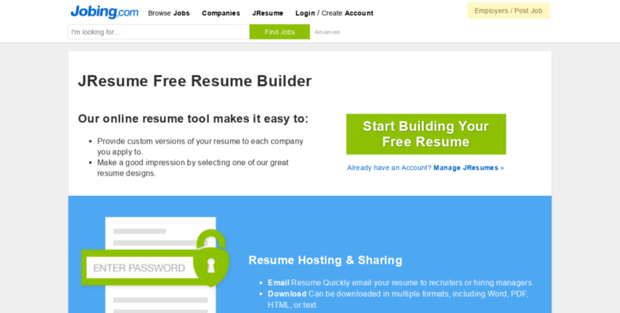 jresume com jresume free resume builder build your local resume