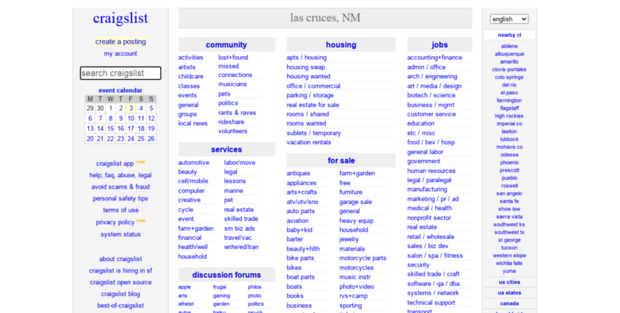 Craigslist Las Cruces Nm >> Las Cruces Craigslist Craigslist Las Cruces Nm Jobs