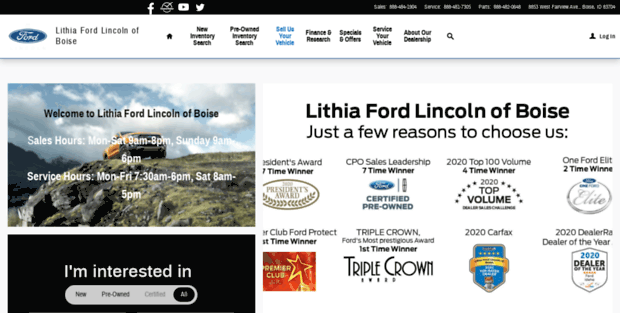 Lithia Ford Boise >> Lithia Ford Boise New Used Ford Dealership In Boise