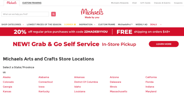 Michaels Craft Stores In Delaware