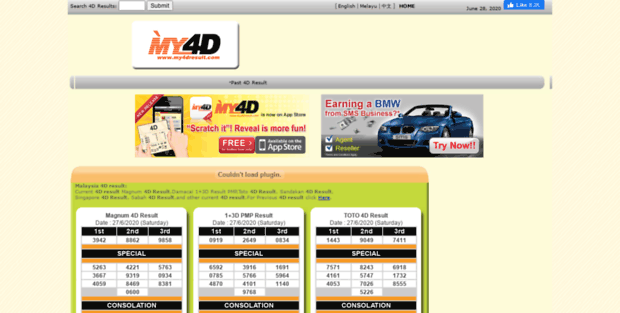 My 4D Result  Malaysia 4D results and 4d results portal, current 4D