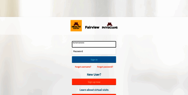 My chart fairview mychart login page