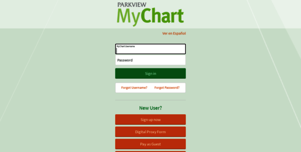 My Chart Parkview. MyChart - Login Page