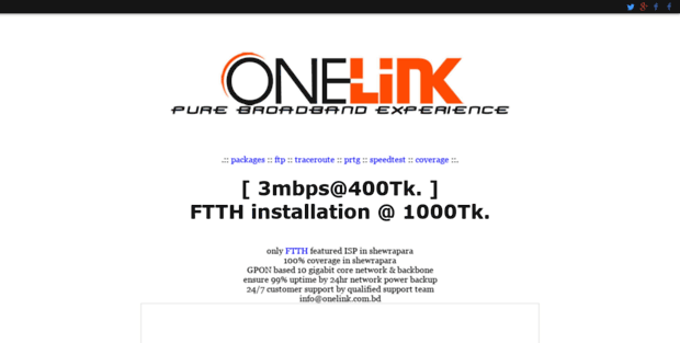 One Link  Welcome to OneLink, ISP of Shewrapara