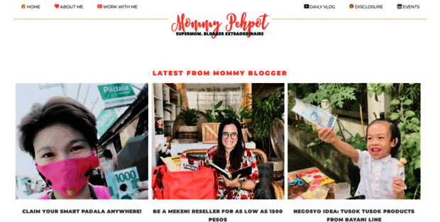 Preview of Mommy Pehpot Blog at http://weblisting.freetemplatespot.com/pehpot.com