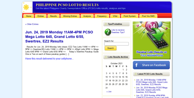 Pinoy LOTTO RESULTS  PHILIPPINE PCSO LOTTO RESULTS