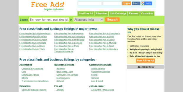 Pune Pg Free Ads  Free Ads India | free classifieds India | free