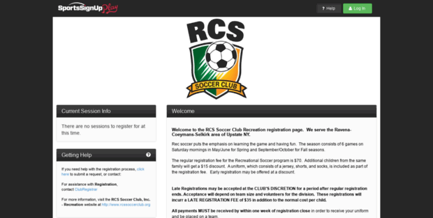 rcs ysc sports signup rcs soccer club inc recreation powered
