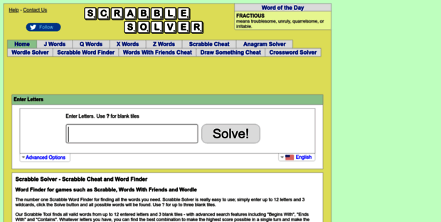 Scrabble-solver com  Scrabble Solver - Scrabble Cheat and