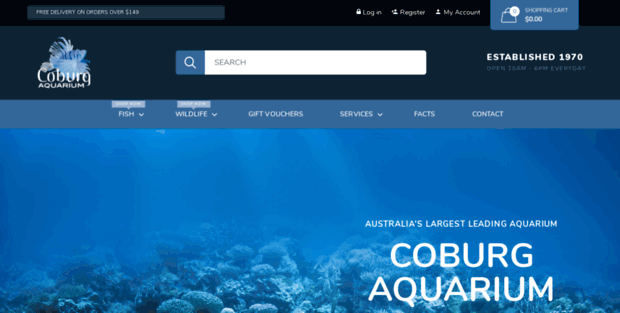 Shop Coburg Aquarium  Buy Live Fish and Aquarium Supplies