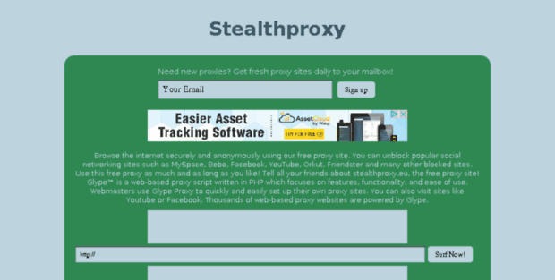 Stealth Proxy  Glype proxy - Youtube Enabled!