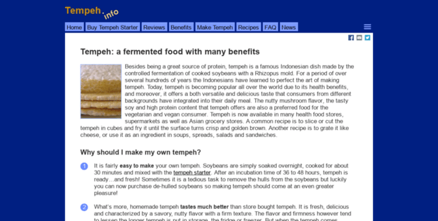 Tempeh info  Tempeh - What is tempeh?