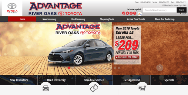 Toyota Of River Oaks New Used Toyota Dealer In Calumet City Il