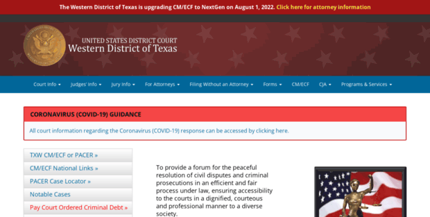 Txwd Us Court S  U S  District Court – Western District of Texas