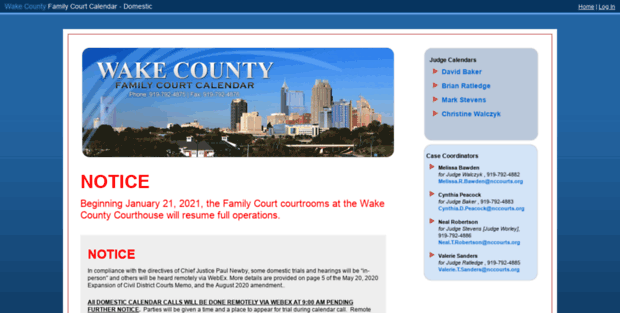 Wake county court dates in Perth