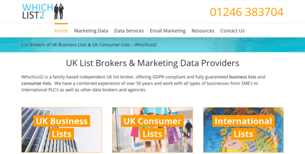 Which List  UK List Broker of Business & Consumer Lists